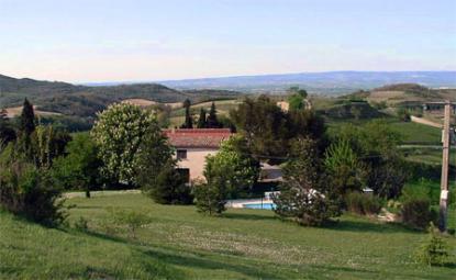 Aude Gite piscine vue & golf